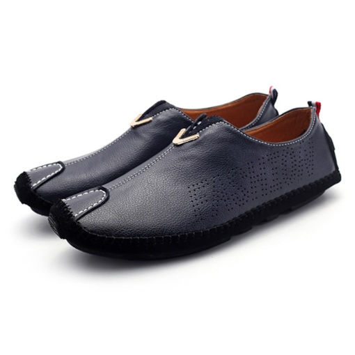 Slip-On Flat Heel Low-Cut Upper Plain PU Men's Loafers