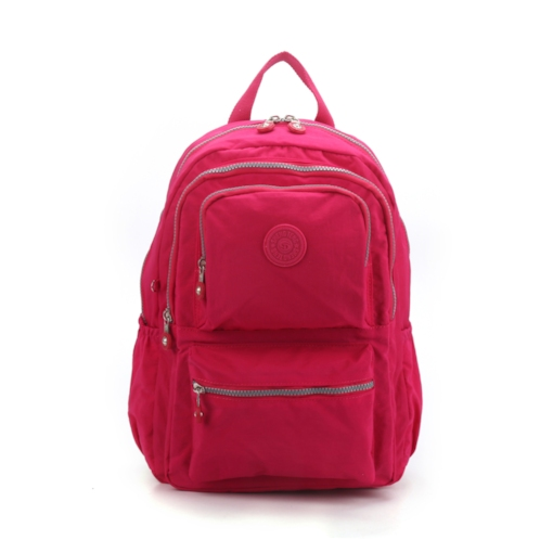 Solid Color Plain Canvas Preppy Backpack