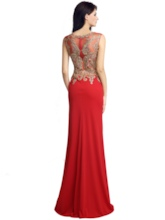 Trumpet Sleeveless Scoop Floor-Length Evening Dress 2019