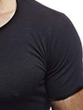 Plain Round Neck Casual Short Sleeve Men's T-shirt