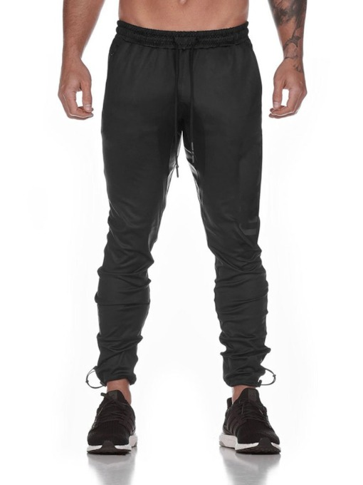 Lace-Up Straight Plain Spring Men's Casual Pants