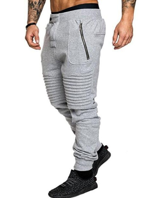 Slim Zipper Men's Casual Pants