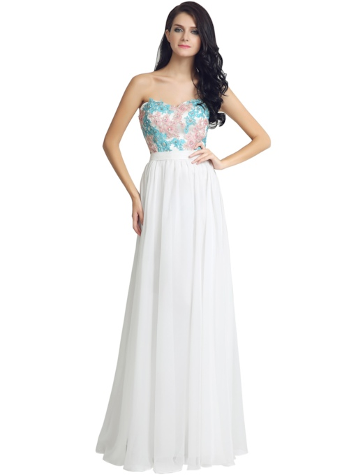 Beading Sleeveless A-Line Floor-Length Prom Dress 2019