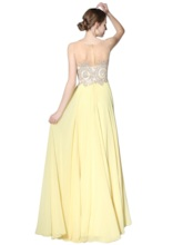 A-Line Floor-Length Scoop Beading Prom Dress 2019