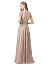 A-Line Floor-Length Half Sleeves Scoop Prom Dress 2019