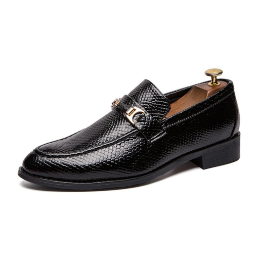 Low-Cut Upper Round Toe Business PU Leather Shoes for Men