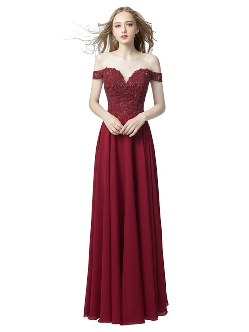 Sweetheart A-Line Floor-Length Beading Evening Dress 2019