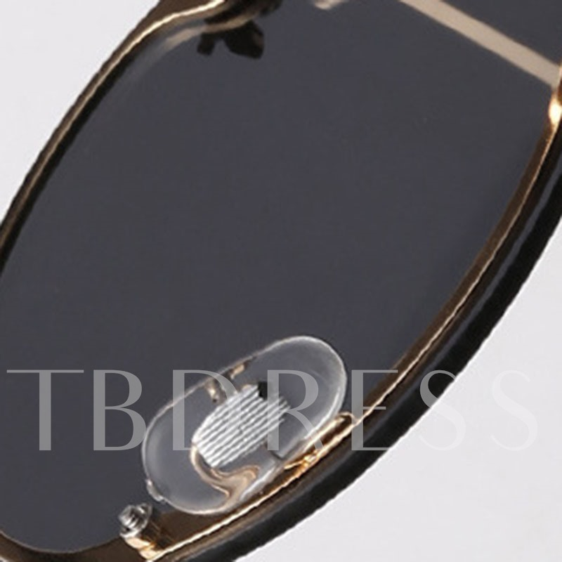 Round Black Lens Anti-UV Poly Carbonate Sunglasses