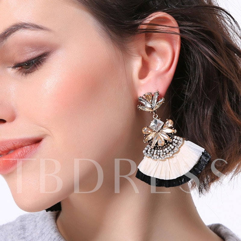 Color Block Tassel Bohemian Drop Earrings
