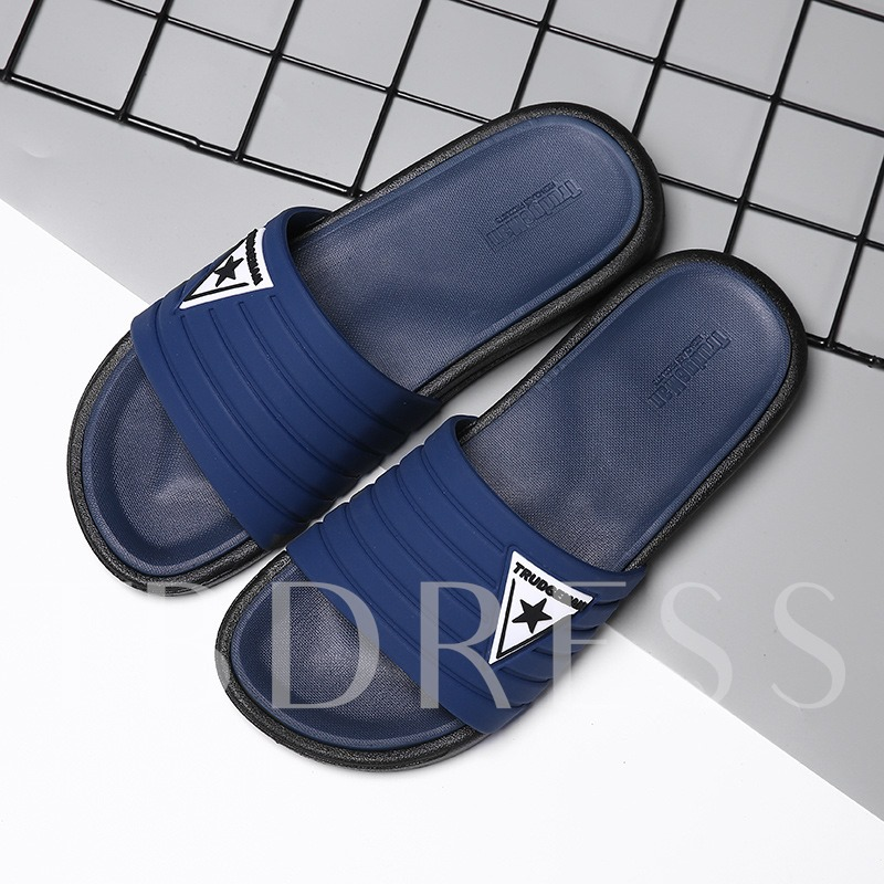 PVC Slip-On Summer Slippers for Men
