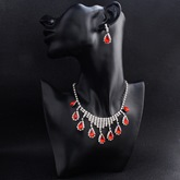 European Gemmed Earrings Wedding Jewelry Sets