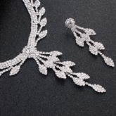 Necklace European Leaf Wedding Jewelry Sets