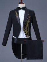 Diamond Blazer Mid-Length Men's Dress Suit