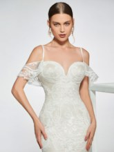 Open Shoulder Mermaid Lace Wedding Dress 2019