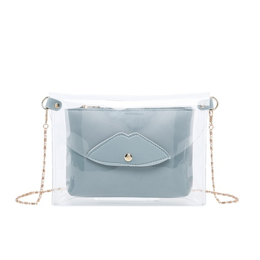 Plain PU Thread Square Crossbody Bags