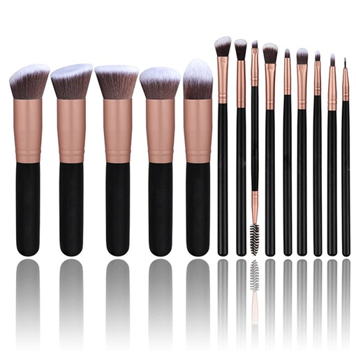 14 Pcs Foundation Powder Make Up Brush Kit
