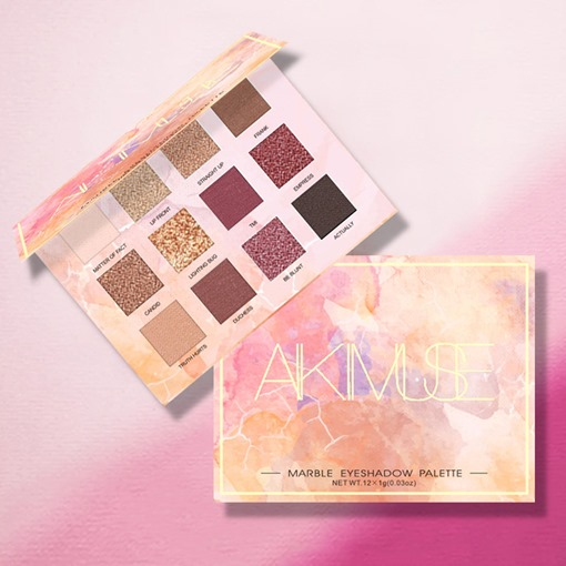 12 Color Charming Glitter Marble Eye Shadow Palette