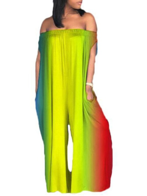 Gradient Full Length Casual Wide Legs Women's Jumpsuit