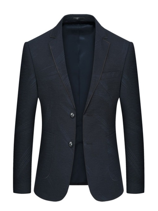 Plain Single-Breasted Notched Lapel Casual Men's Blazer