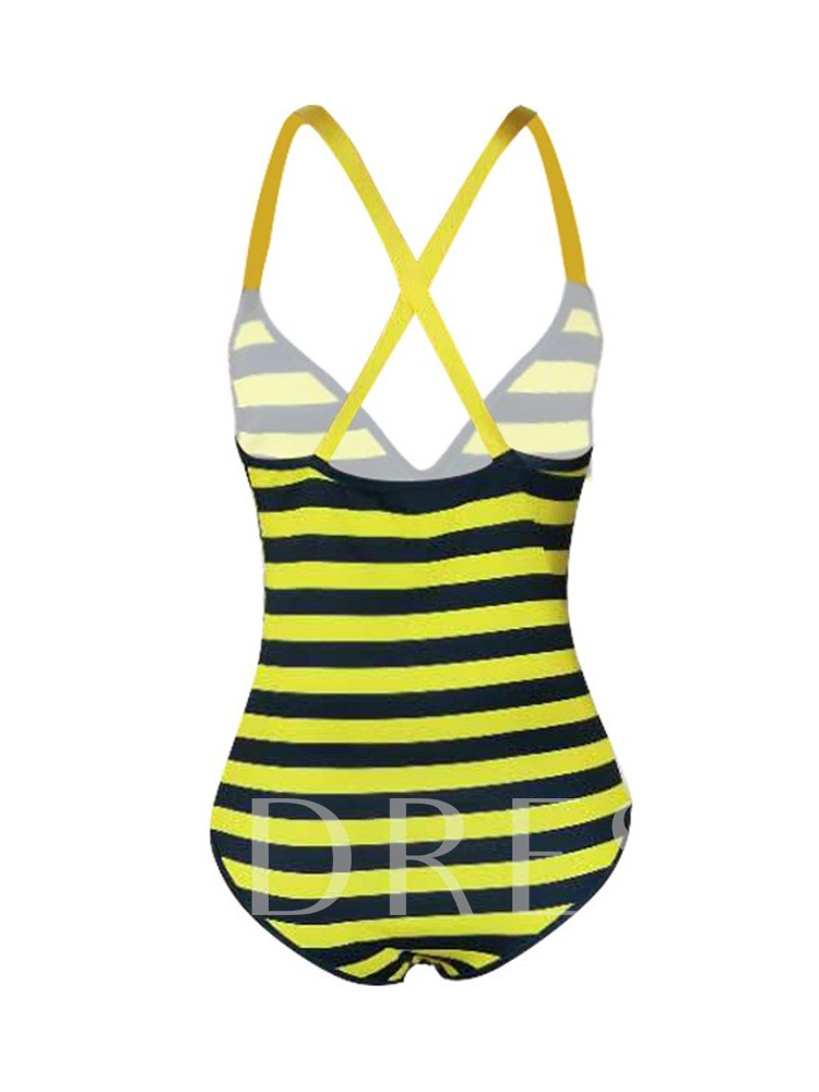 One Piece Stripe Sexy Women's Monokini