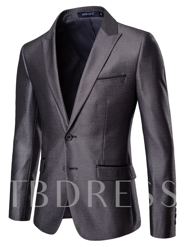 Pants Single-Breasted Pocket Plain Men's Dress Suit
