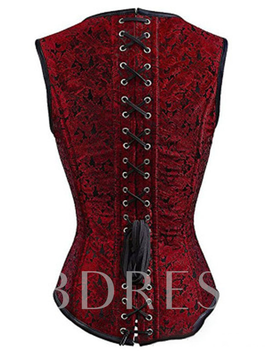 Rivet Plain Sleeveless Women's Corset