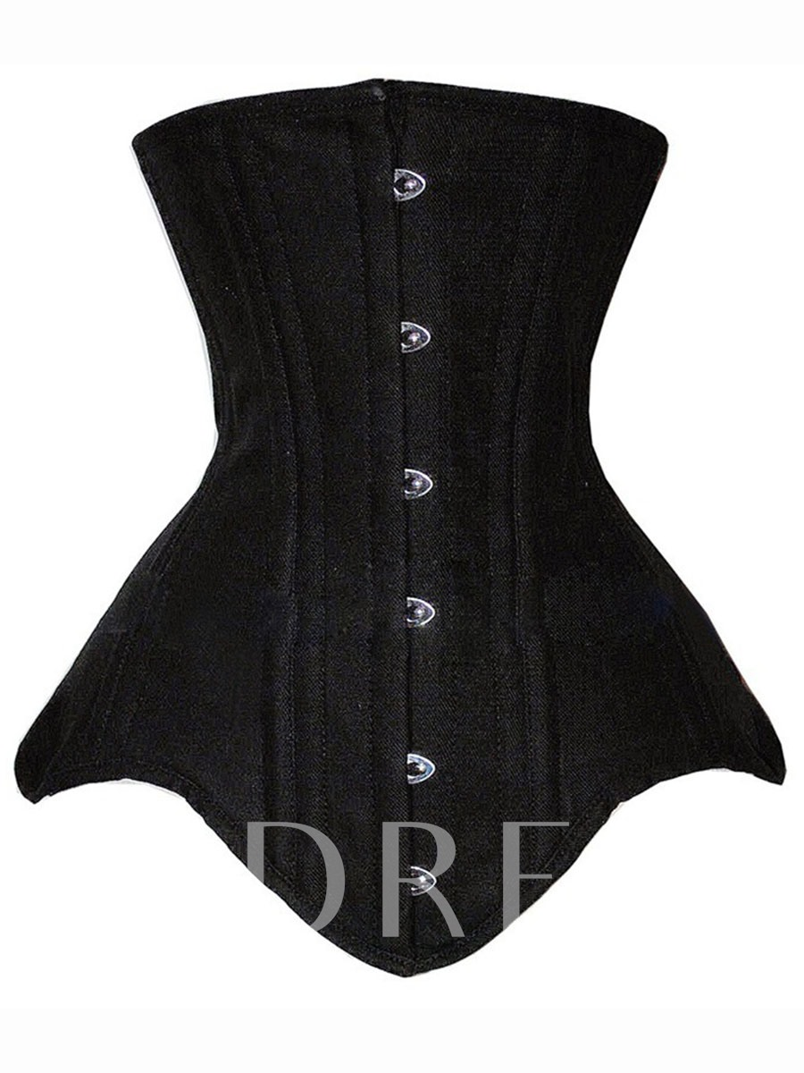 Sleeveless Plain Palace Double Steel Women's Corset