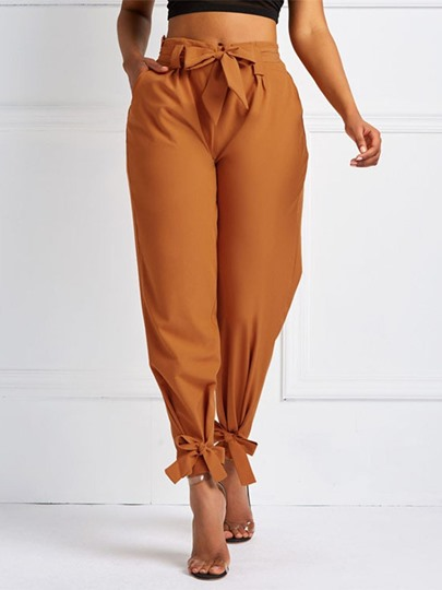 Loose Plain Pleated Harem Pants Women's Casual Pants