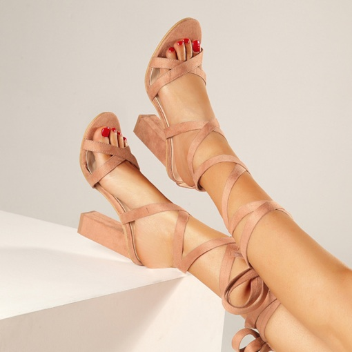 Lace-Up Open Toe Cross Strap Sexy Women's Sandals