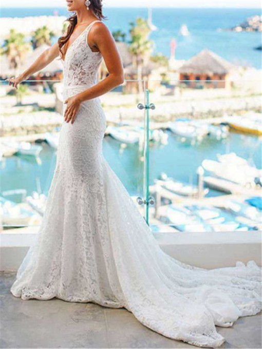 cc4601a9e44c Best Selling Trumpet/Mermaid Wedding Dresses under 500 - Tbdress.com