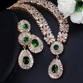 Necklace European Gemmed Wedding Jewelry Sets