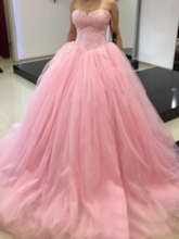 Sweetheart Floor-Length Ball Gown Sleeveless Quinceanera Dress 2019