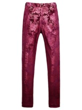 Floral Pants Single-Breasted Men's Dress Suit
