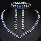 Necklace European Water Drop Wedding Jewelry Sets