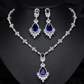 Gemmed Necklace European Wedding Jewelry Sets