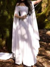 Long Sleeve Plain Summer Women's Maxi Dress