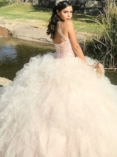 Ball Gown Halter Sleeveless Beading Quinceanera Dress 2019