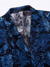 Pants Single-Breasted Floral Formal Men's Dress Suit