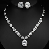 Necklace Floral European Wedding Jewelry Sets