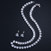 Earrings Diamante Wedding Jewelry Sets
