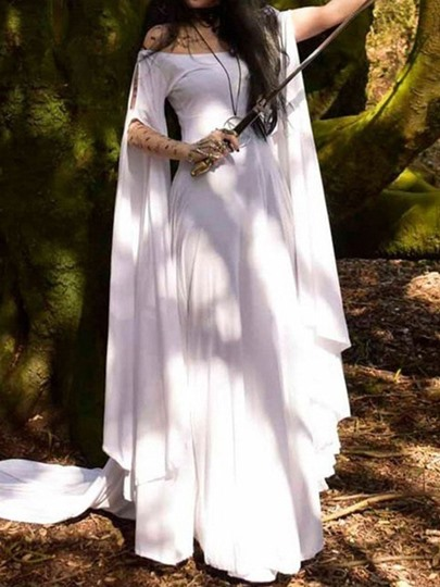 Long Sleeve Plain Summer Womens Maxi Dress Long Sleeve Plain Summer Women's Maxi Dress