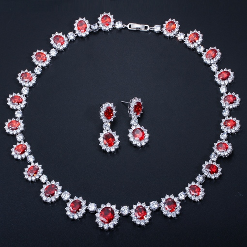 Floral Necklace European Wedding Jewelry Sets