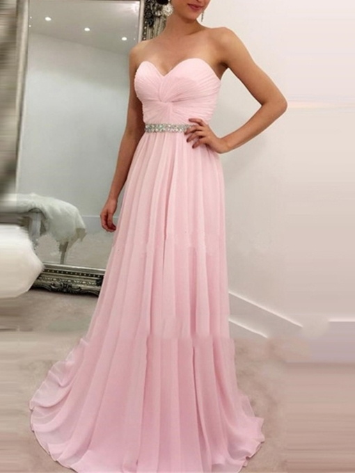 Sweetheart Sleeveless Floor-Length Prom Dress 2019