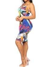 Sleeveless Backless Spaghetti Strap Women's Bodycon Dress
