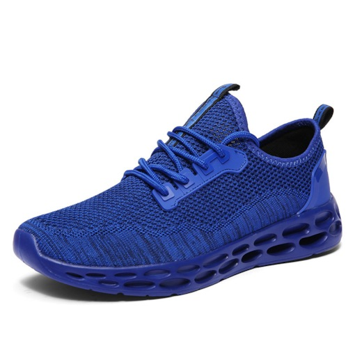 Flat Lace-Up Low-Cut Upper Mesh Breathable Men's Sneakers