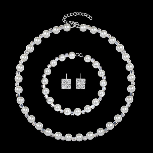 Pearl Inlaid European Necklace Jewelry Sets (Wedding)
