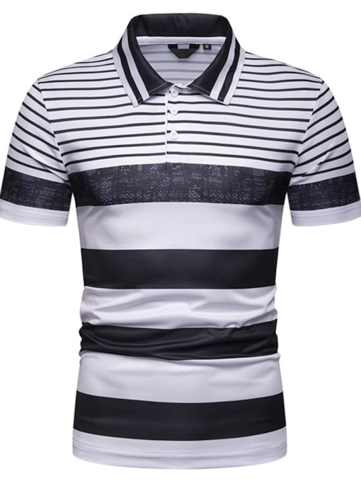 Stripe Casual Men's Polo Shirt