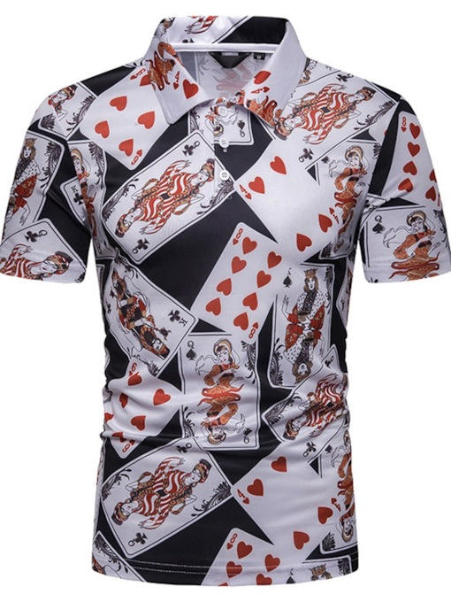 Casual Print Short Sleeves Men's Polo Shirt