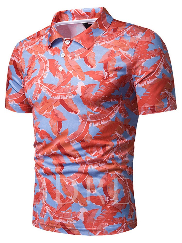 Casual Print Men's Polo Shirt