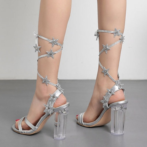 Chunky Heel Lace-Up Open Toe Strappy Women s Prom Sandals. 56. USD  48.51 · Pointed  Toe Slip-On Stiletto Heel Beads Customized Prom Shoes 24a94fd7e67a